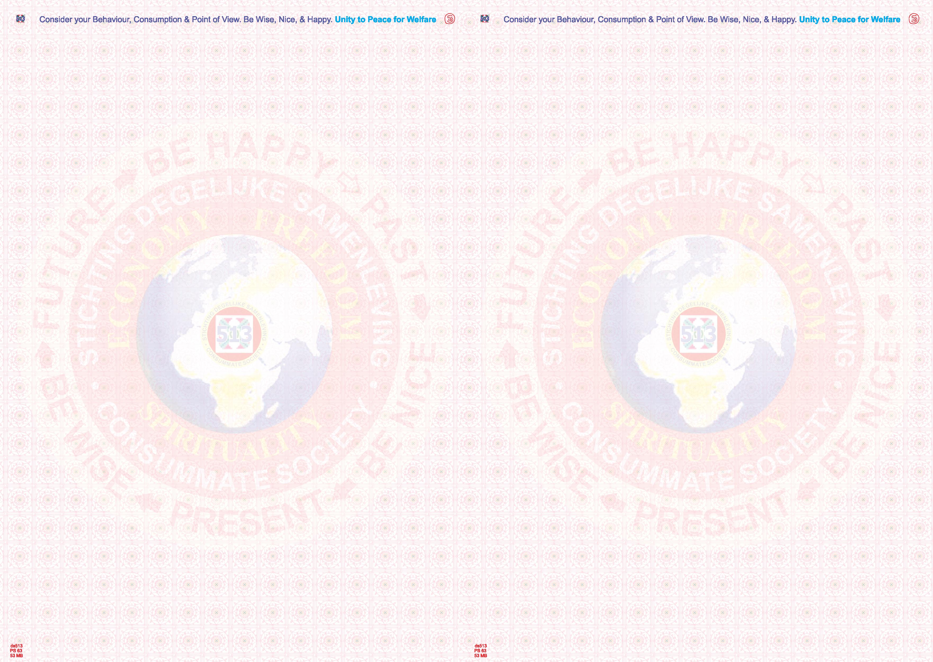 Briefpapier aarde a5 2maal Stg degelijke samenleving 160616